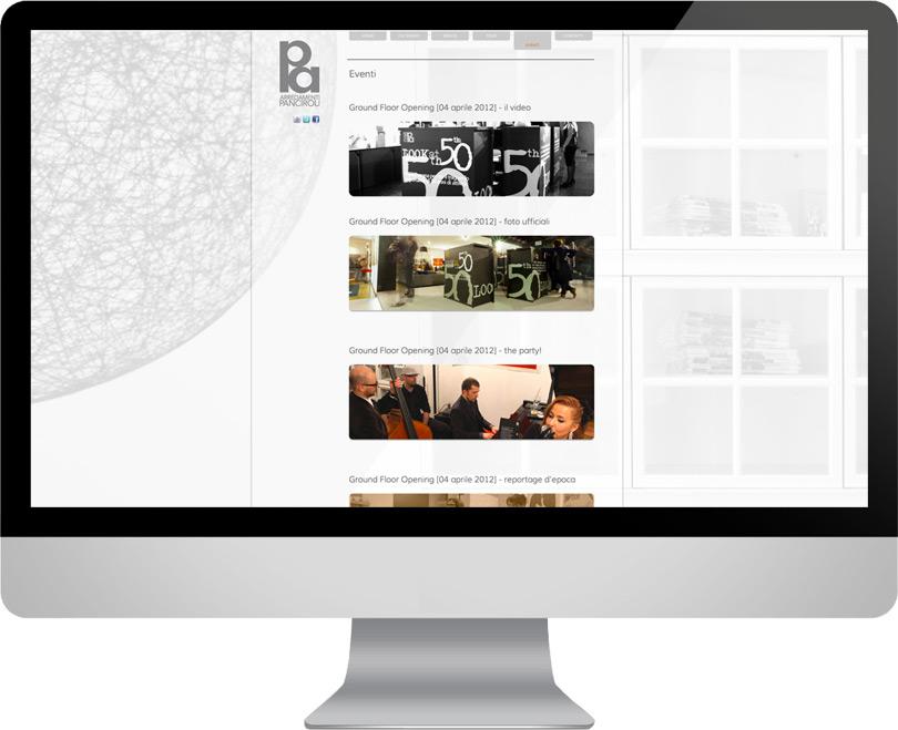 Creazione sito negozio di mobili panciroli arredamenti for Sito web di mobili di design