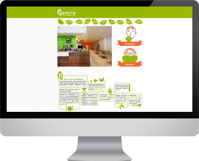 Bancia Bio Risto Café, progettazione sito