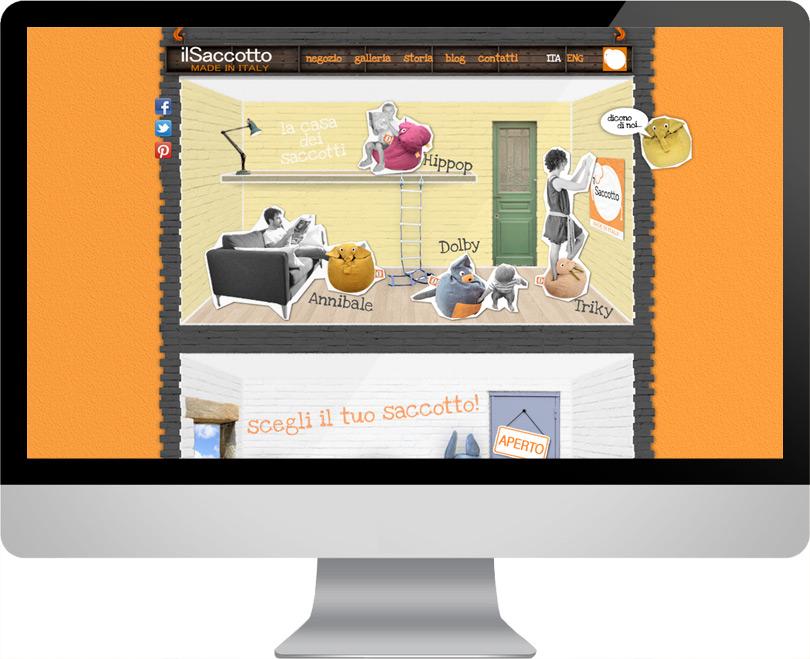 Il Saccotto, progettazione web