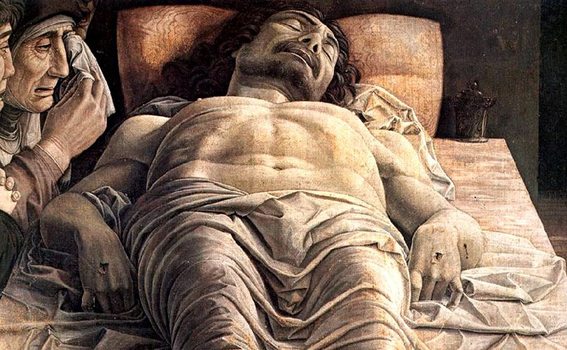 Immagine del Cristo Morto di Andrea Mantegna (1475-1478)