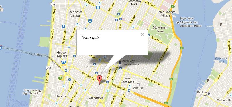 Google Maps, segnaposto personalizzato
