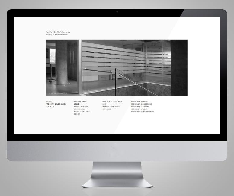 Archimagica, progettazione sito