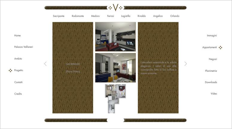 Palazzo Vallisneri, creazione sito web