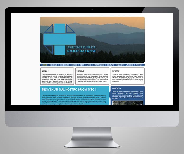 AP Croce Azzurra, progettazione sito