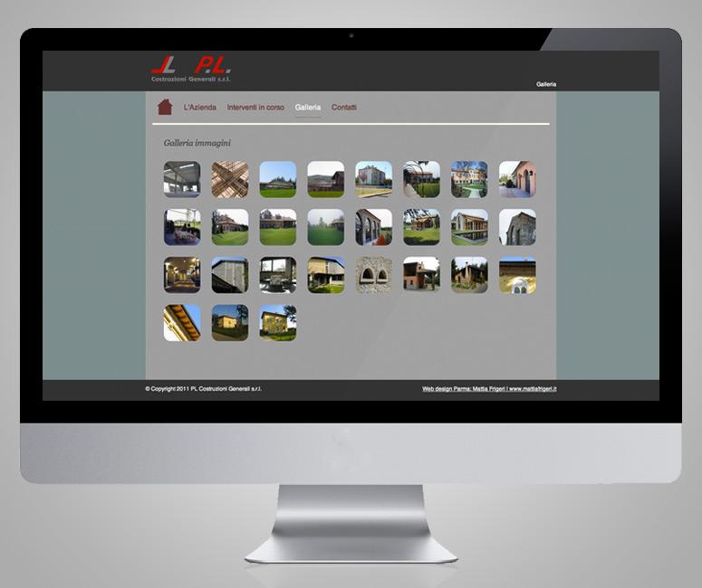 Creazione sito web, PL Costruzioni Generali