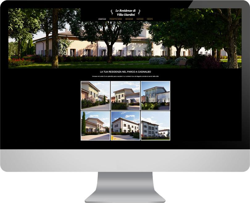 Progettazione web, Residenze Ville Giardini