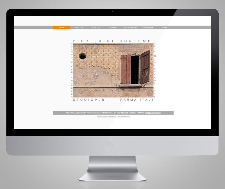 Progetto sito Architetto Parma, Studio PLB