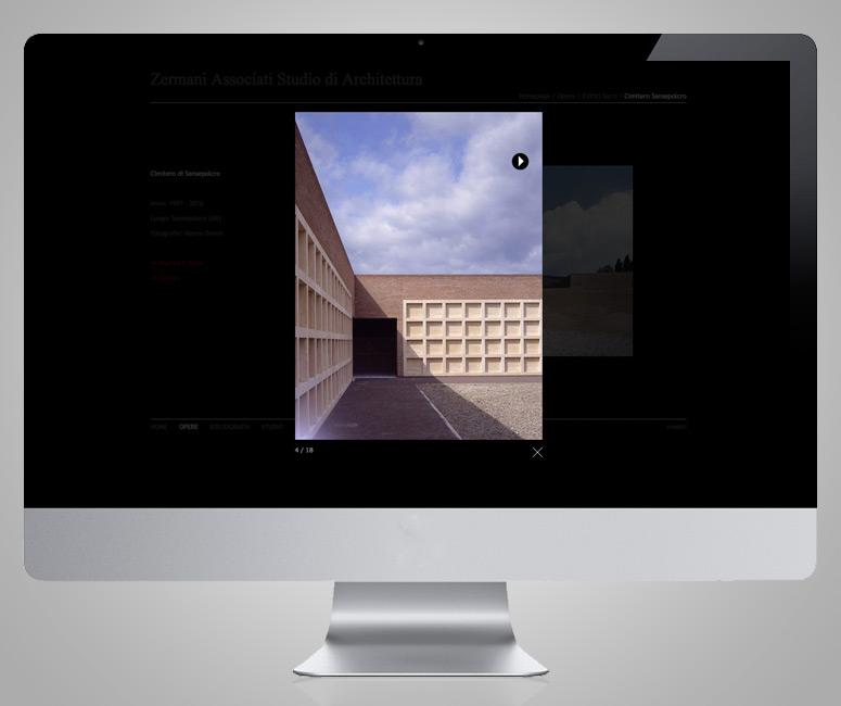 Progetto sito Architetto, Zermani Associati