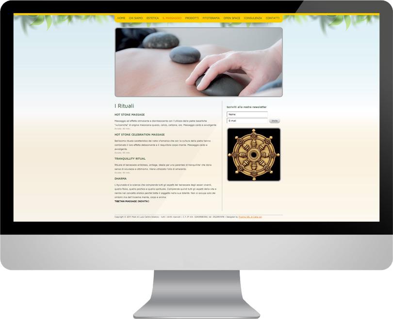 Centro Estetico Mani di Luce, progettazione sito
