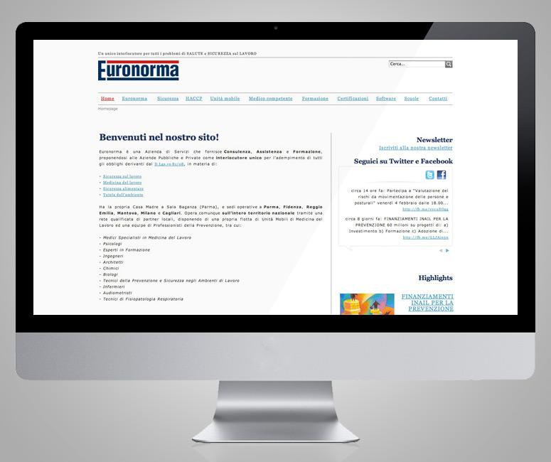 Euronorma, progettazione web