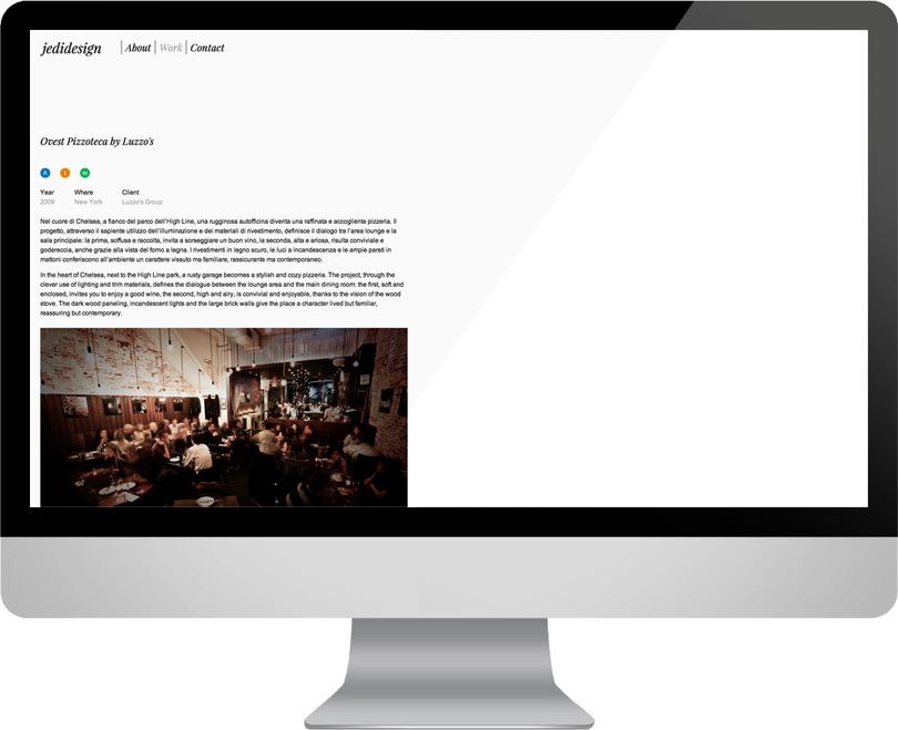 Jedidesign, sito internet