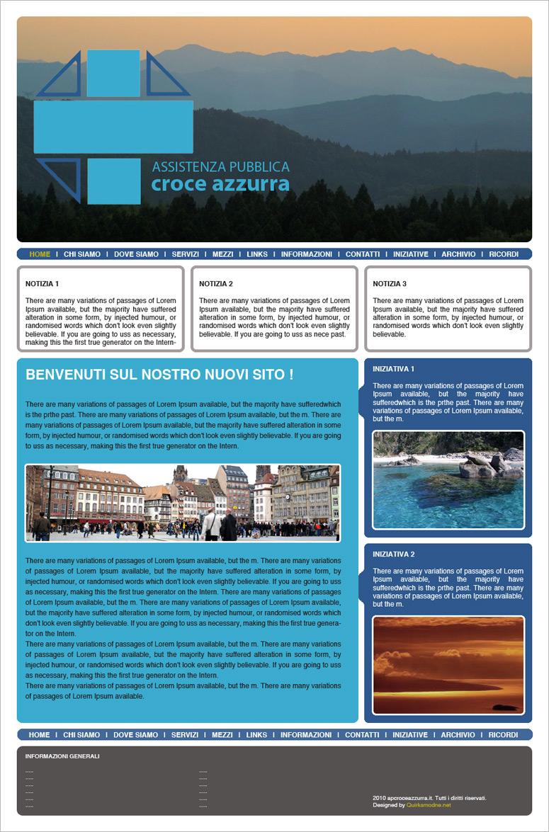 AP Croce Azzurra, creazione layout