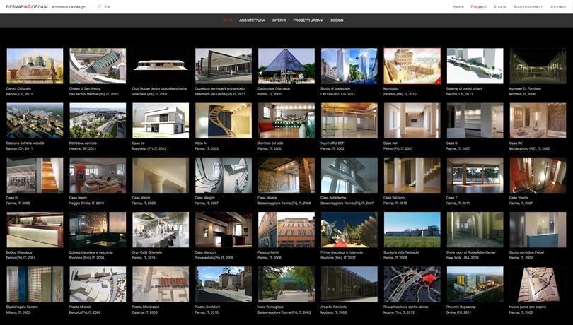 Pier Maria Griodani Architettura, pagine web