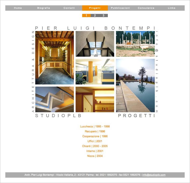 Disegno layout sito web, Studio PLB