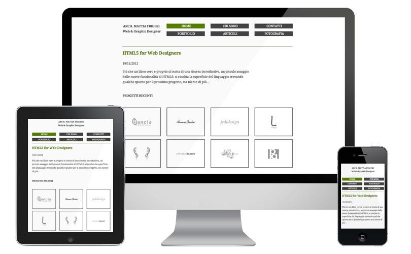Il sito web si adatta al dispositivo che stai utilizzando, desktop smartphone o tablet