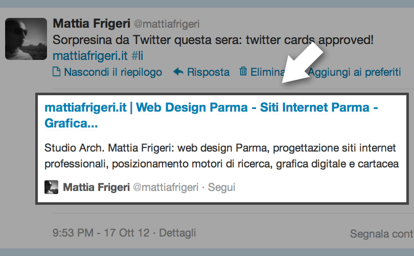 Le nuove Twitter Cards