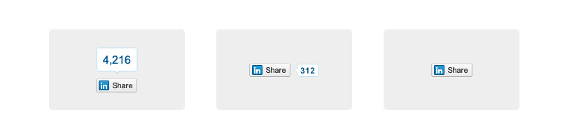 I differenti tasti share di LinkedIn