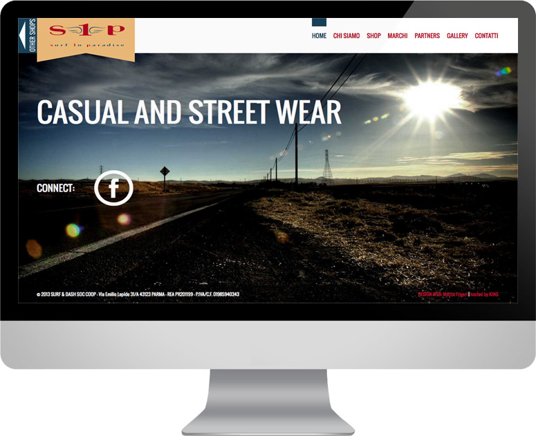 Sito web responsive, Surf in Paradise