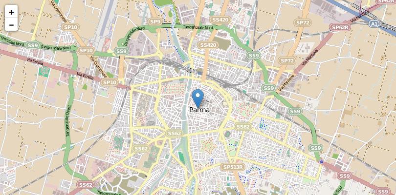 Mappa Leaflet con marker (segnaposto)