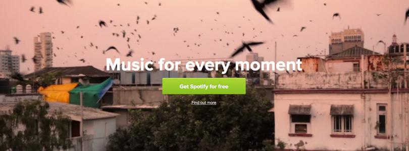 Il video promozionale di Spotify