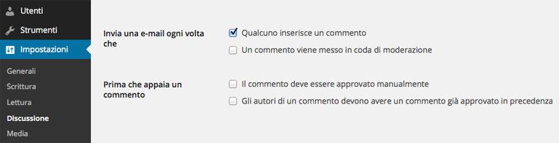 WordPress, notifica ogni commento